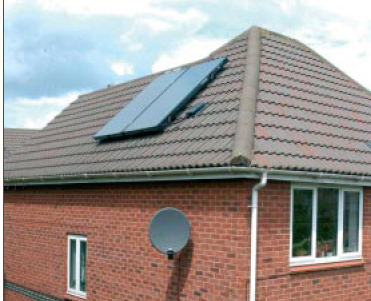 Worcester Solar Fkc 1s 2 Solar Collector Panels On Roof